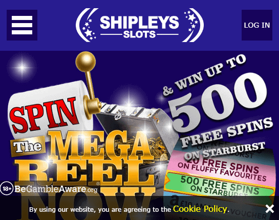 Shipleys Slots front page