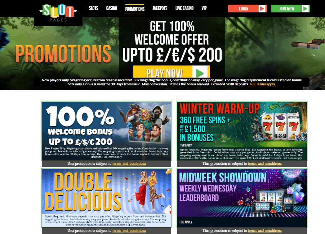 Slot Pages Promotions