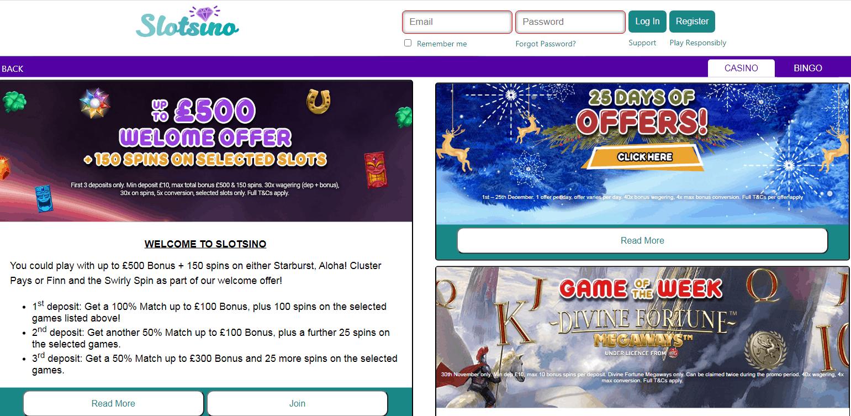 Slot Sino Promotions