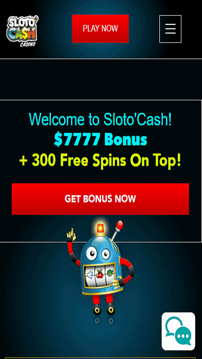 SlotoCash home mobile