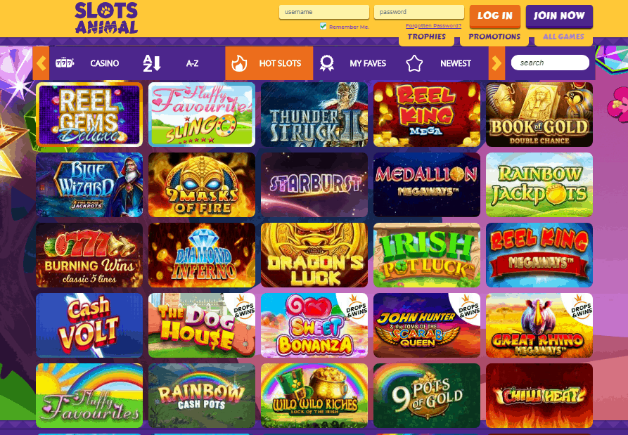 Slots Animal games