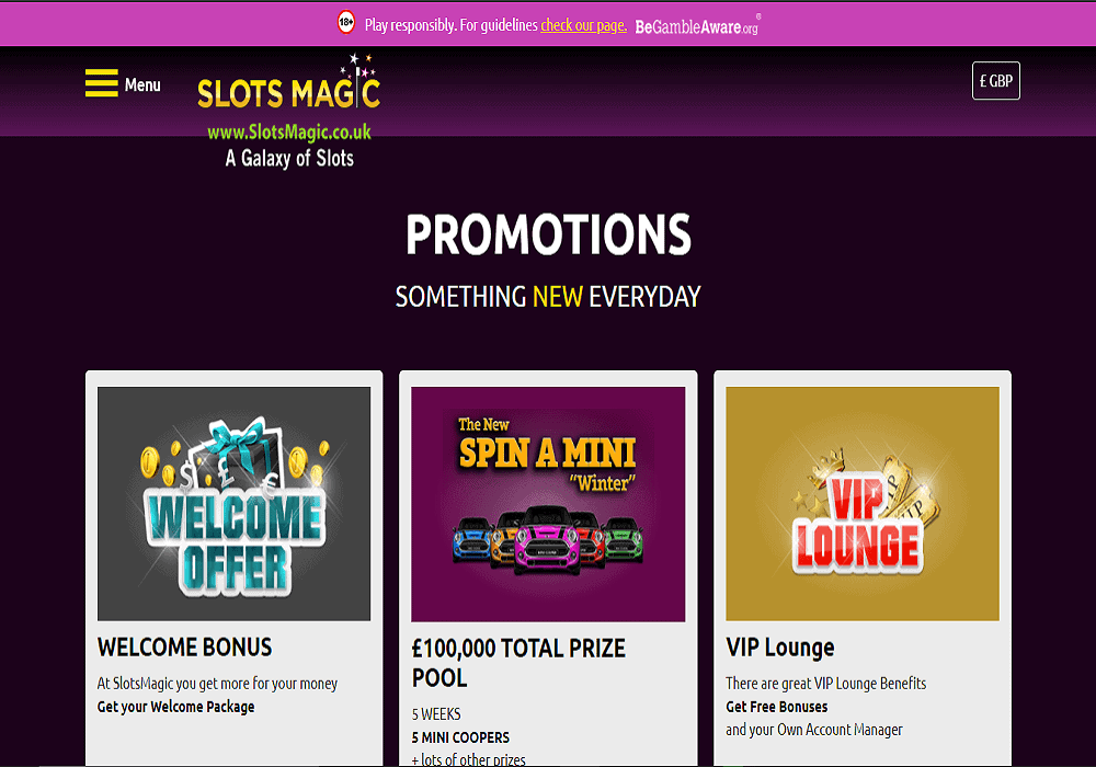 play ojo promotions page