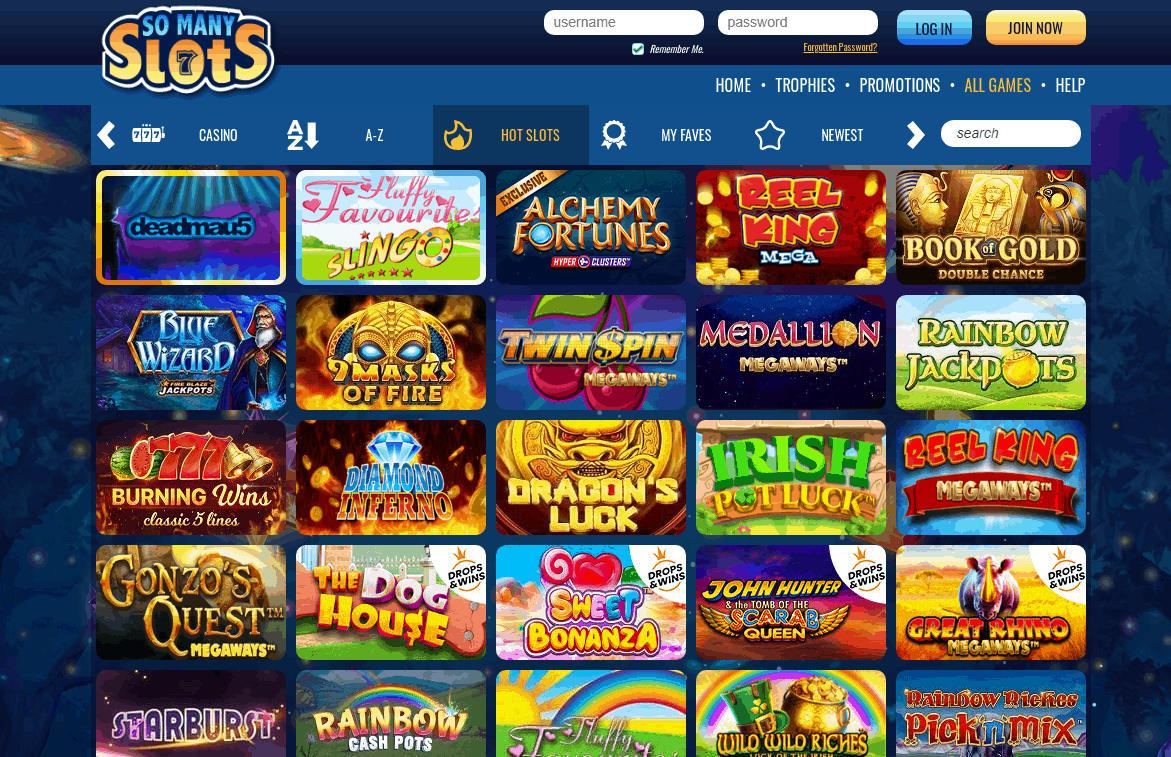So Many Slots Game