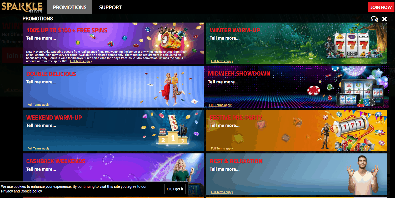 Sparkle Slots Promotions