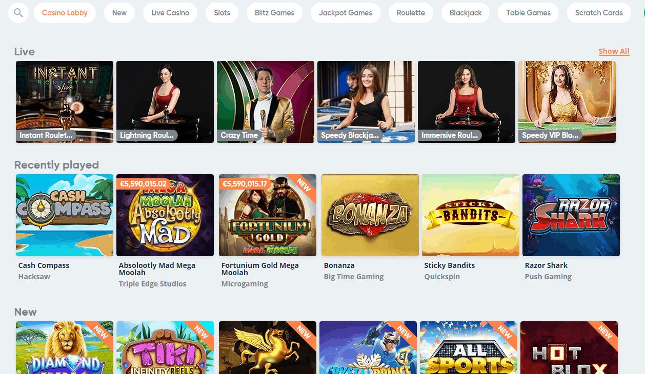 Speedy Casino game