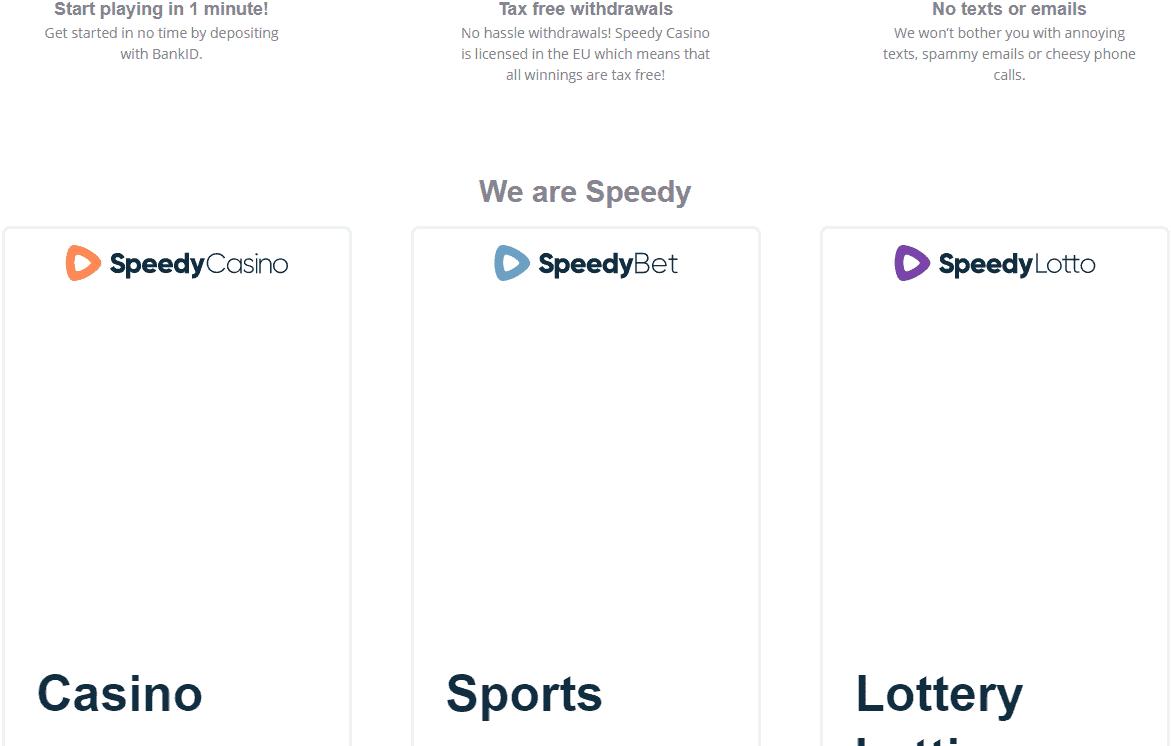 Speedy Casino promotions