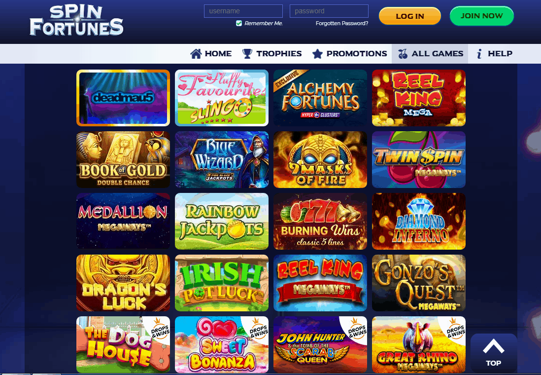 Spin Fortunes Game
