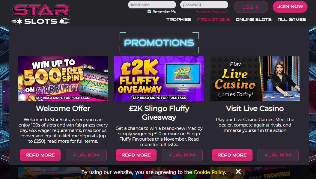 Star Slots promotion