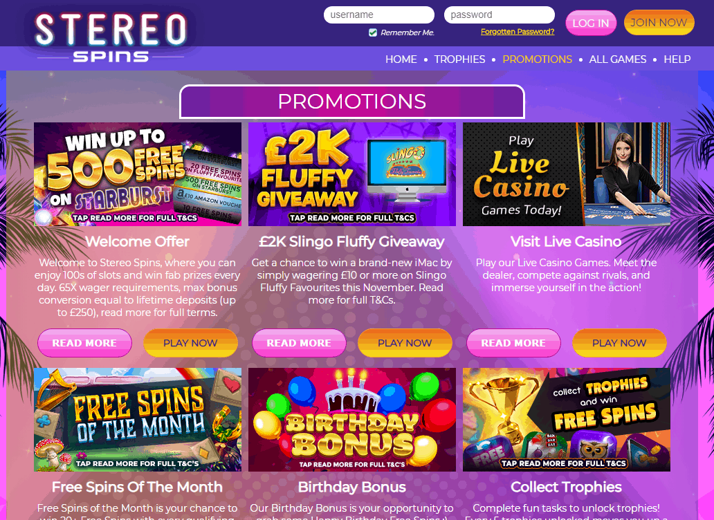 Stereo Spins Promotions