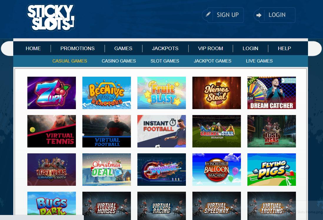 Sticky Slots Game