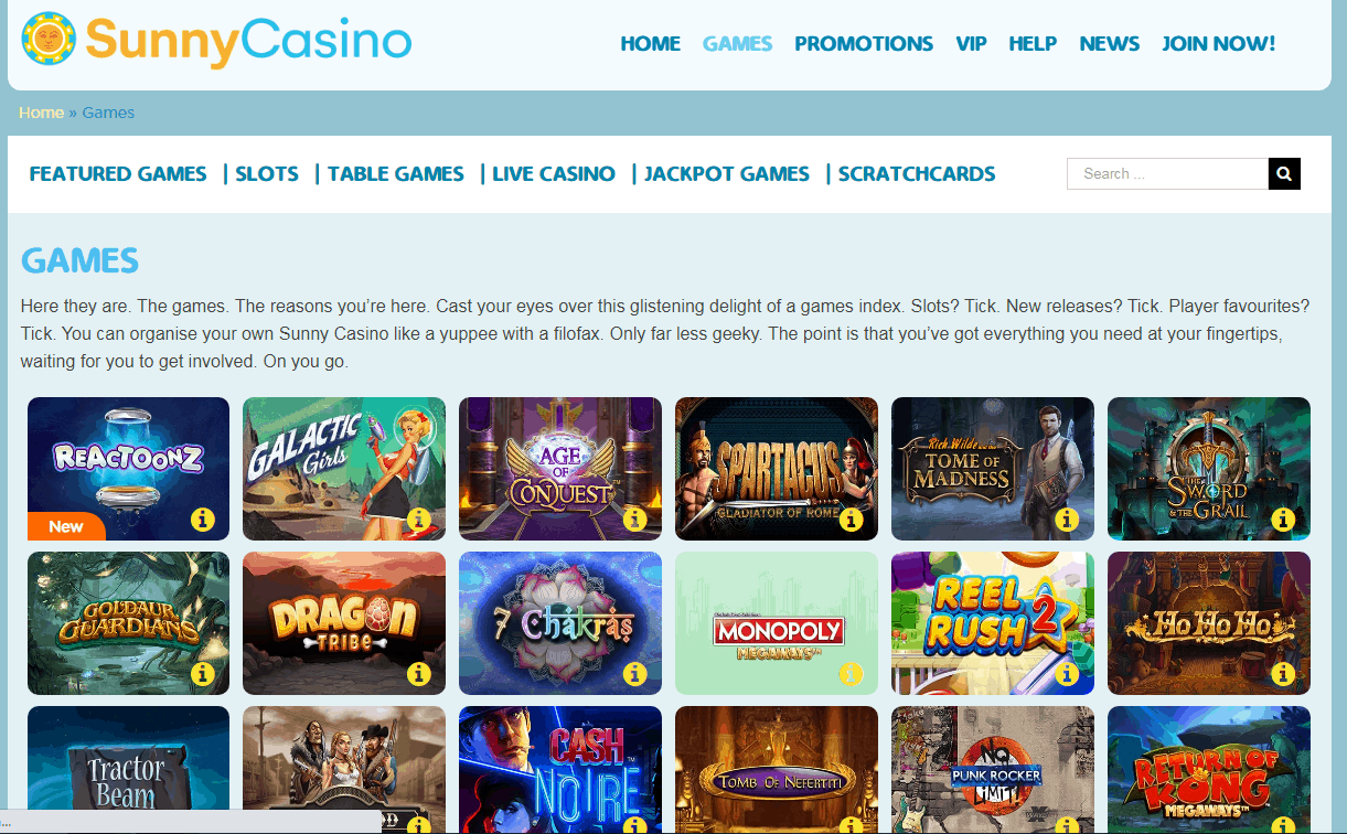Sunny Casino Game