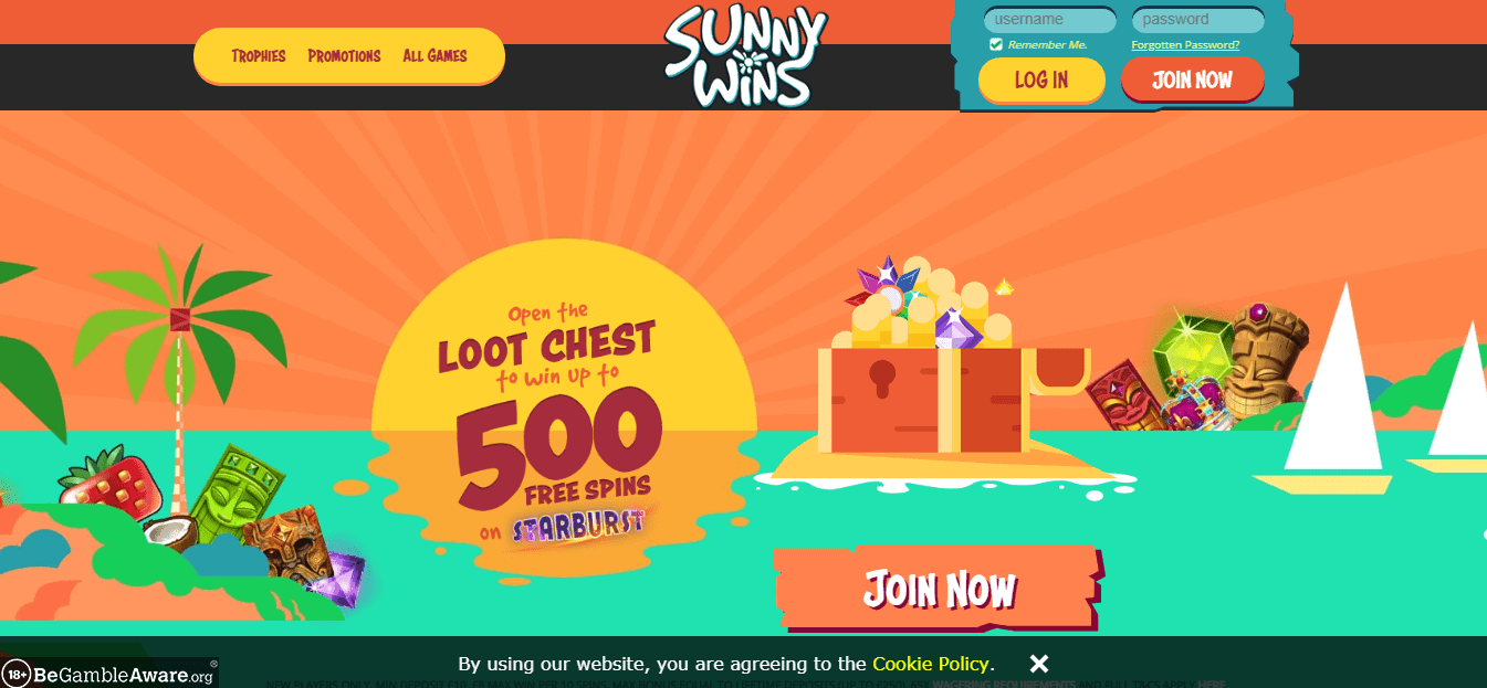 Sunny Wins Home page