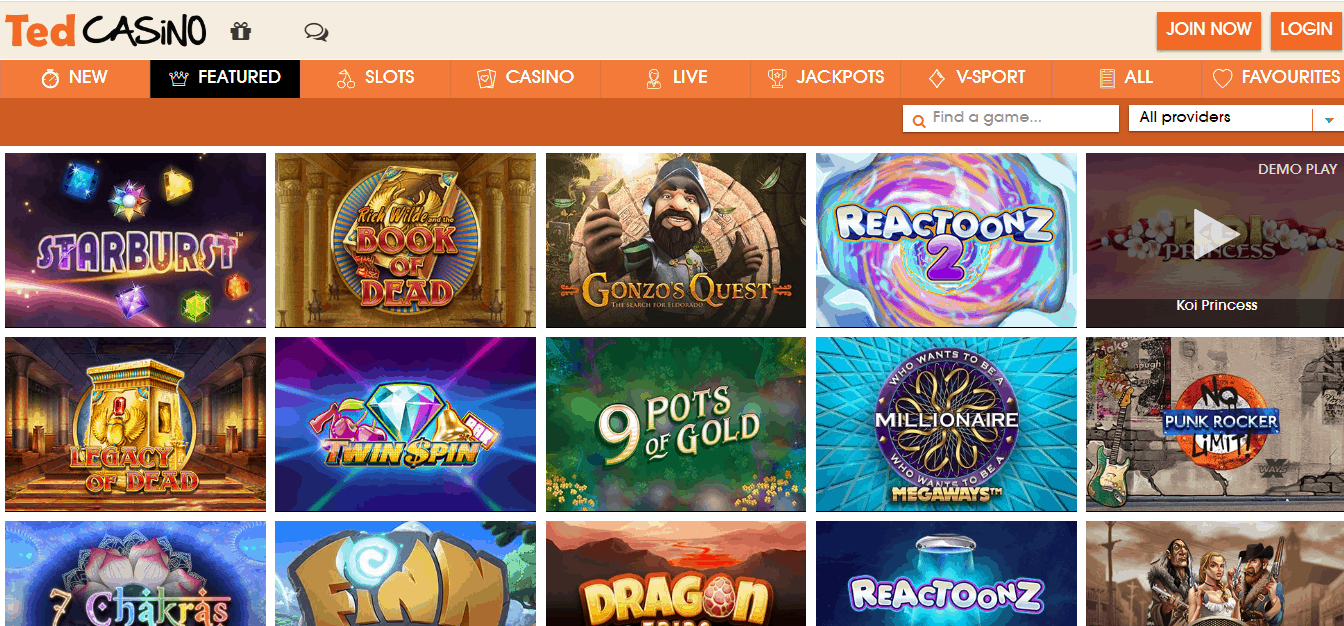 Ted Casino Promotion Page