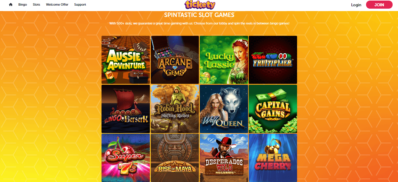 Tickety Bingo Gamepage