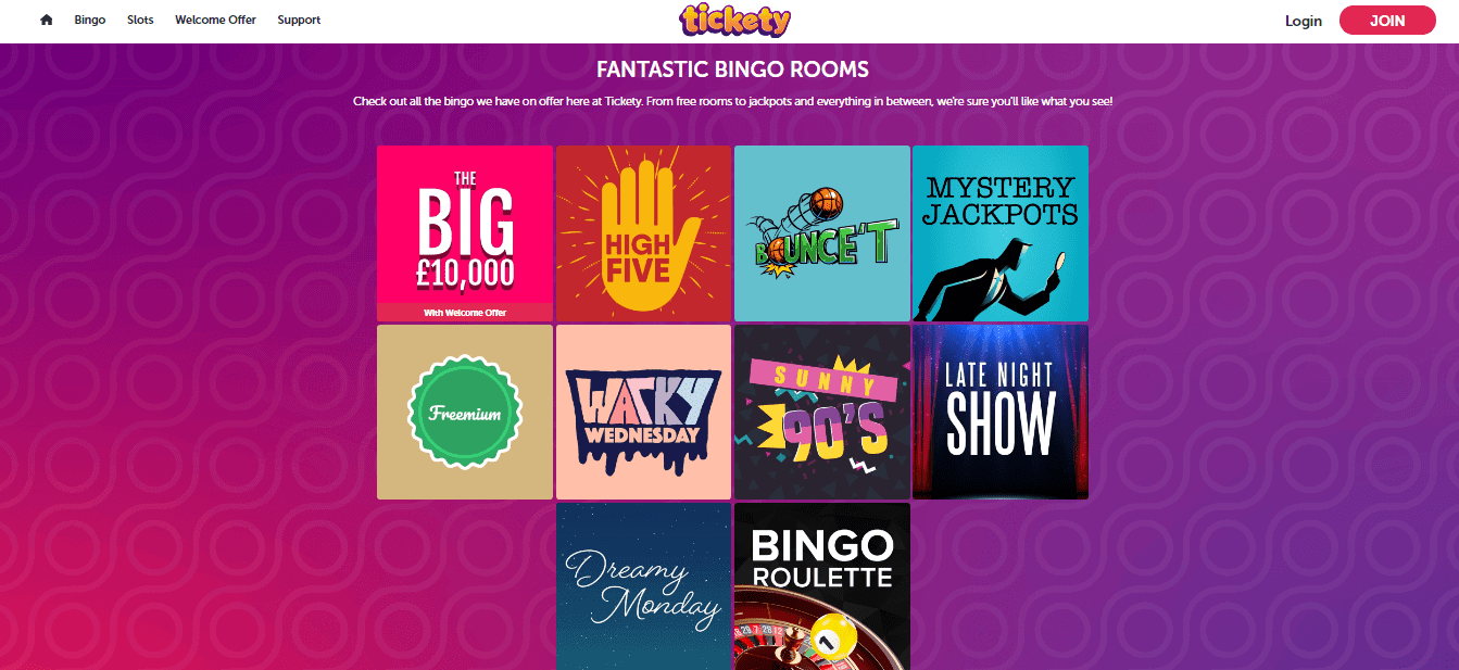 Tickety Bingo Promotion Page