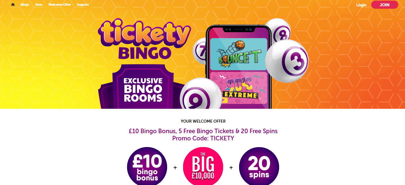 Tickety Bingo Homepage