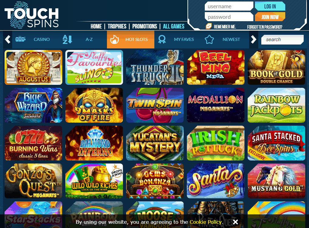 Touch Spins Game