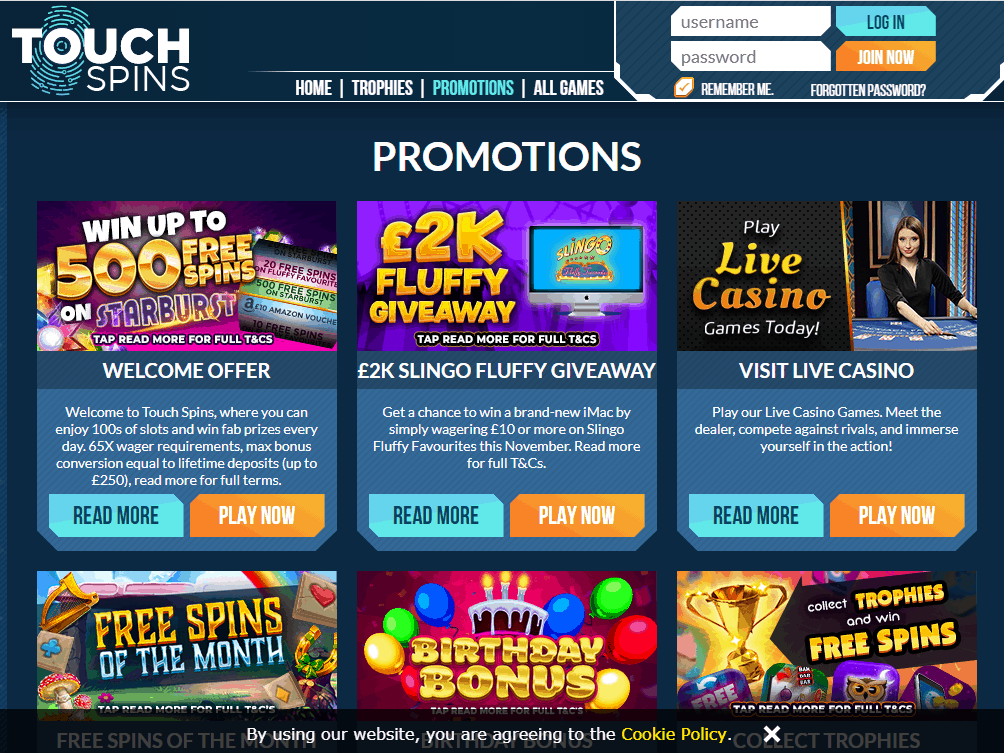 Touch Spins Promotions