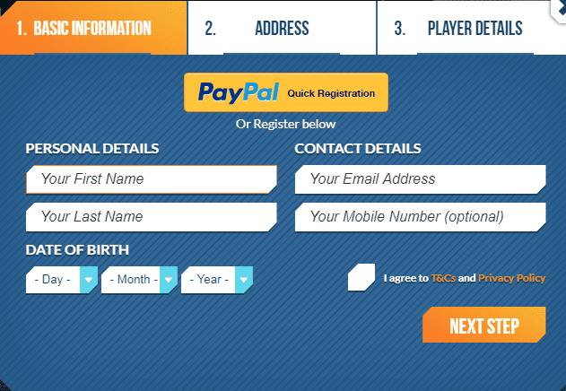 Touch Spins Signup