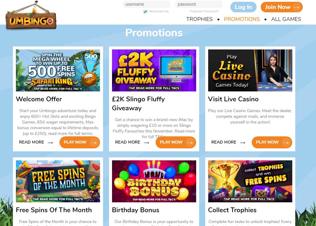 Um Bingo Promotions
