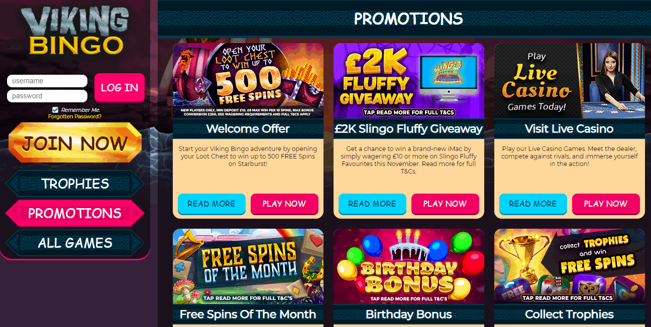 Viking Bingo promotion