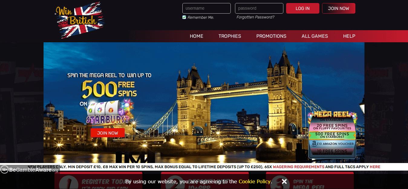 Win British Home Page