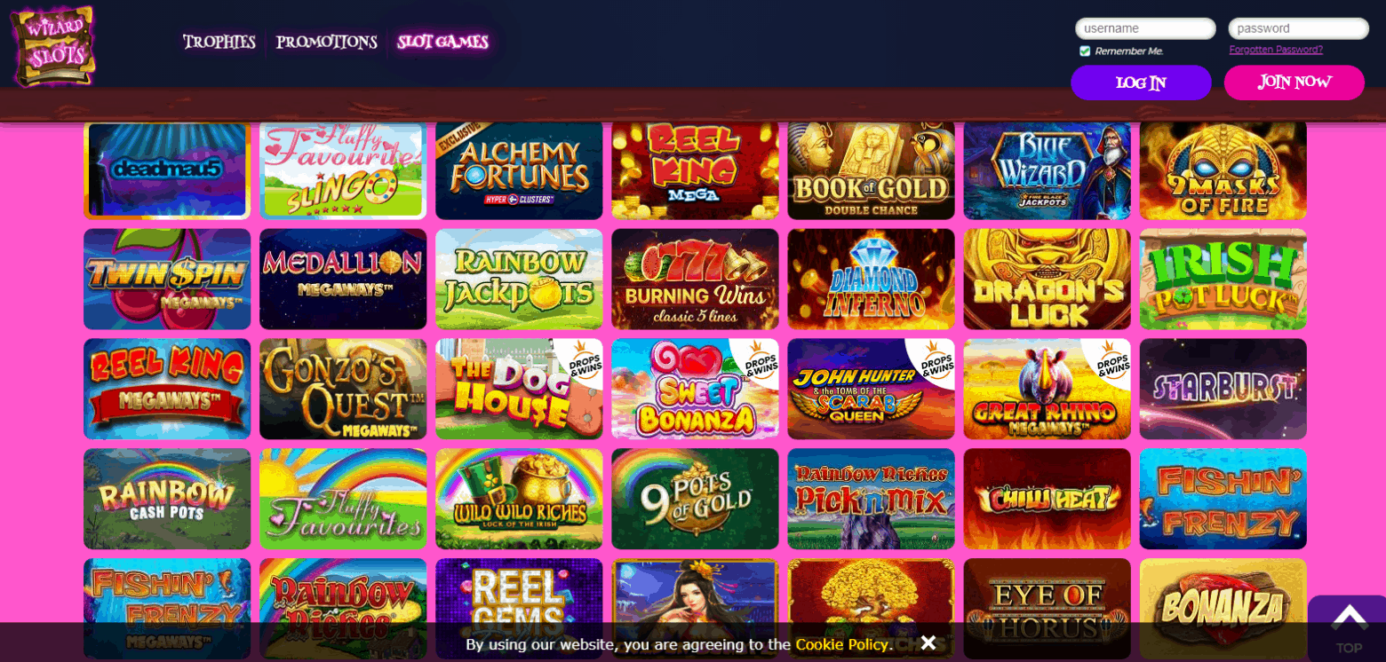 Wizard Slots Game