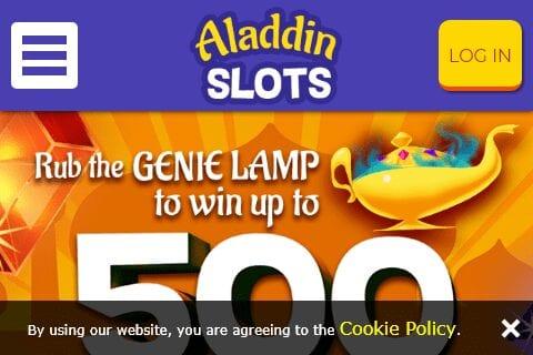 aladdin slots front image