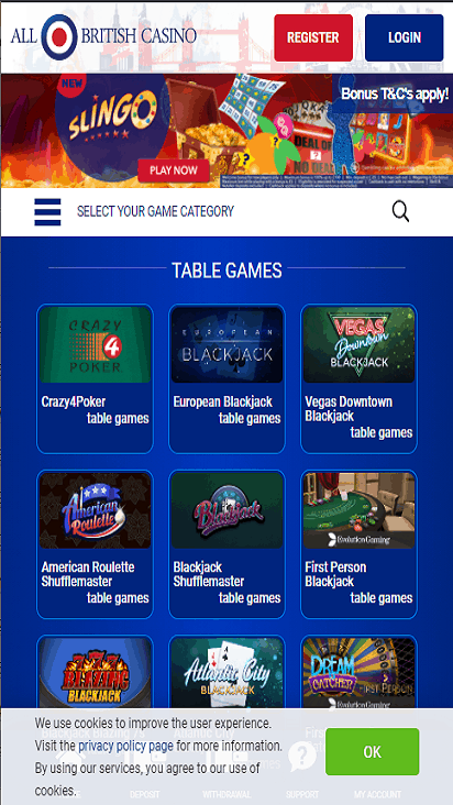 allbritishcasino home mobile
