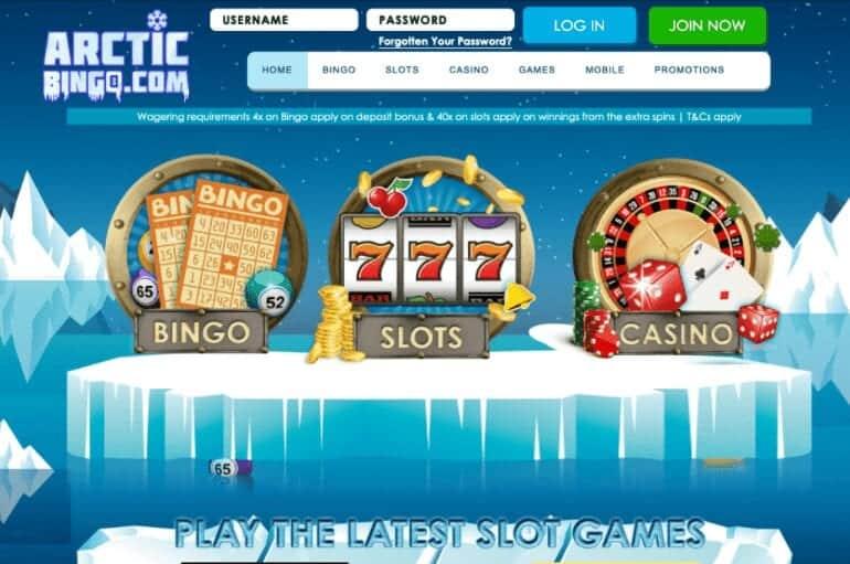 arctic bingo home page