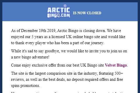 Arctic Bingo front image