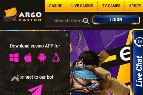 argo casino front image