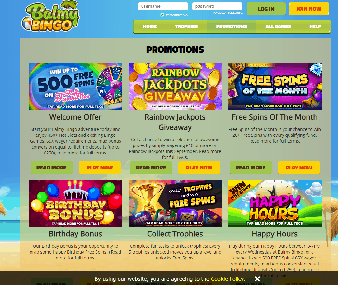 balmy bingo promotions