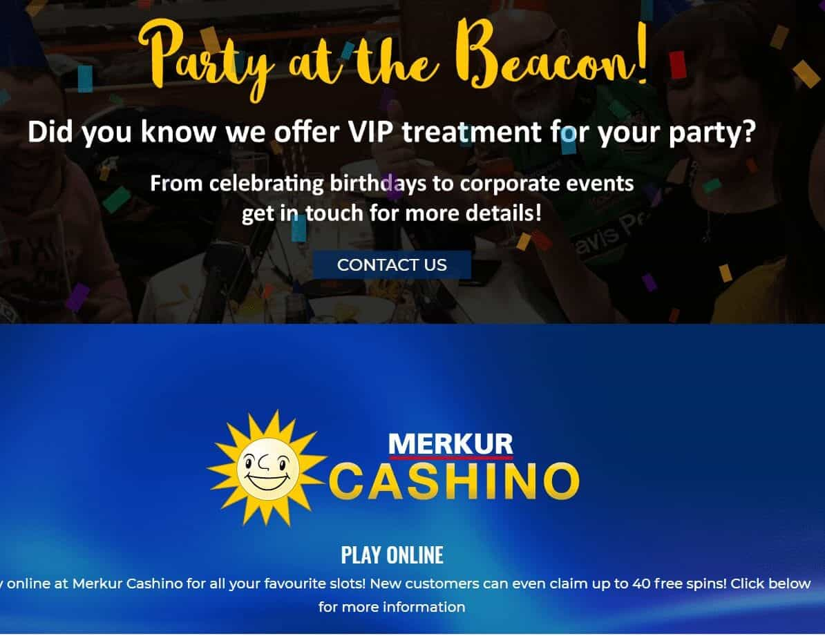 Beacon Bingo Promotion page