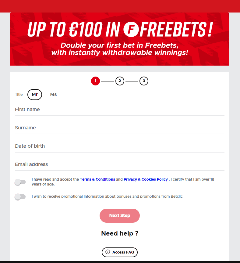 bet clic sign up