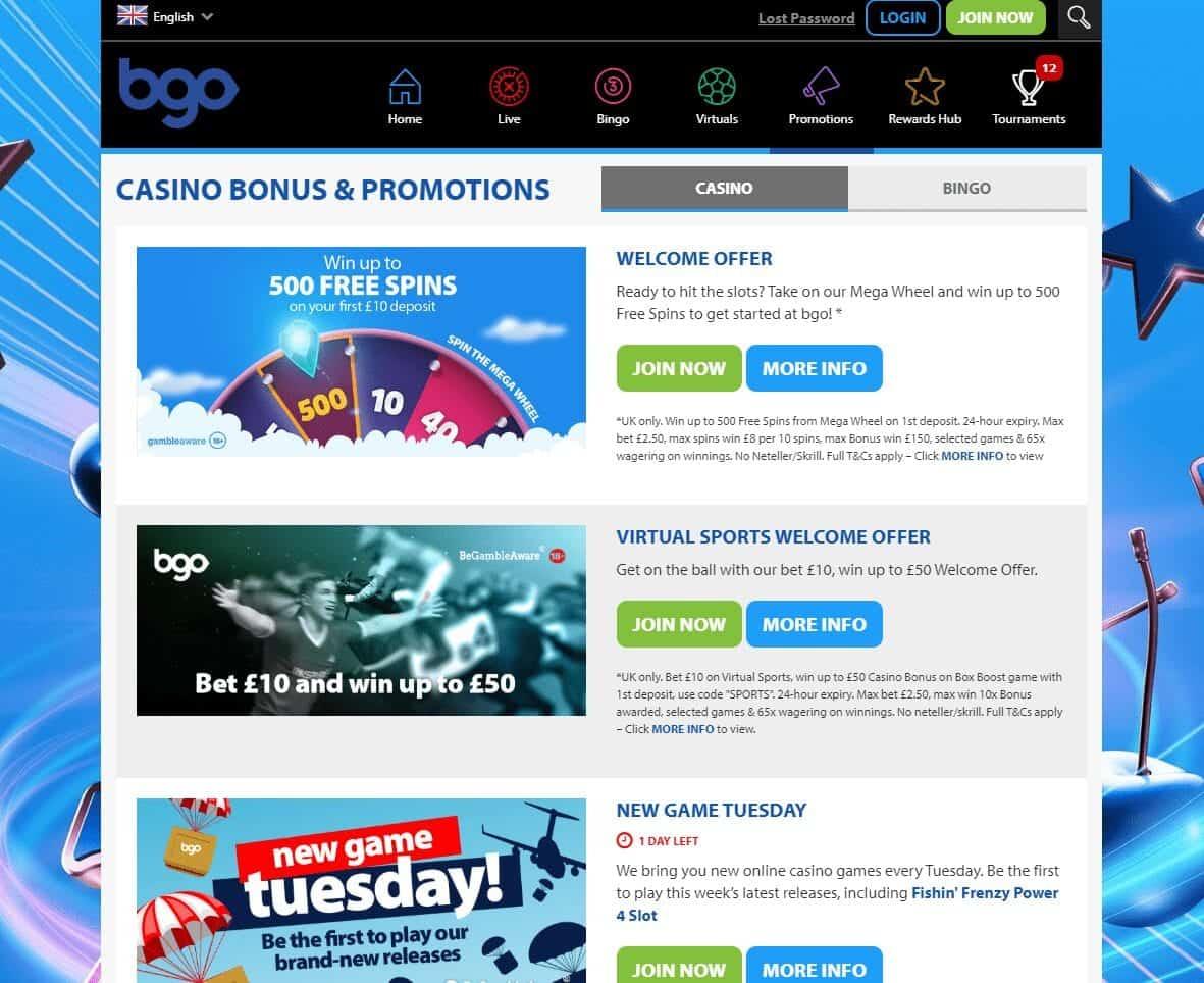 bgo bingo promotions