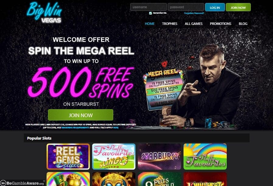 big win Vegas home page