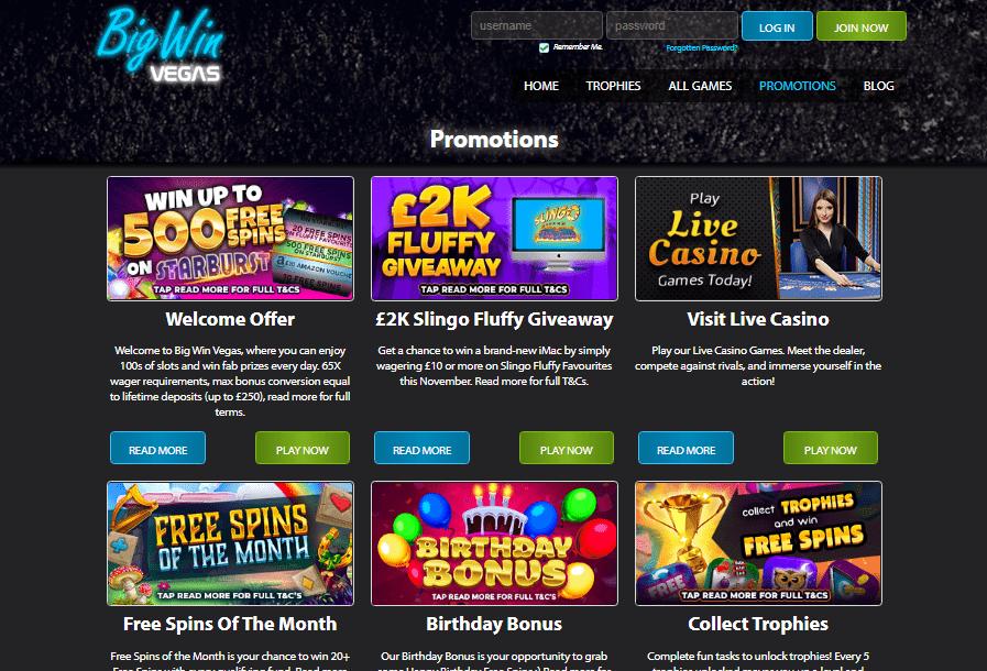 big win vegas promotion