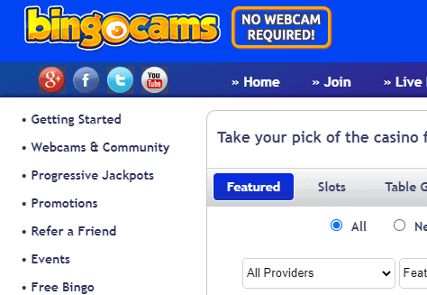 bingocams front image page