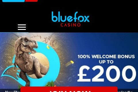 Blue Fox Casino Front Page