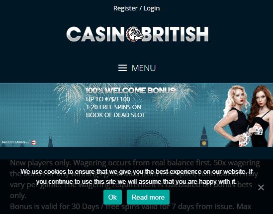 casino british front page