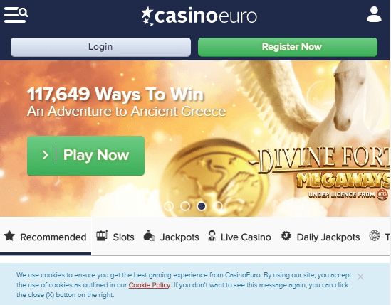 casino euro front page