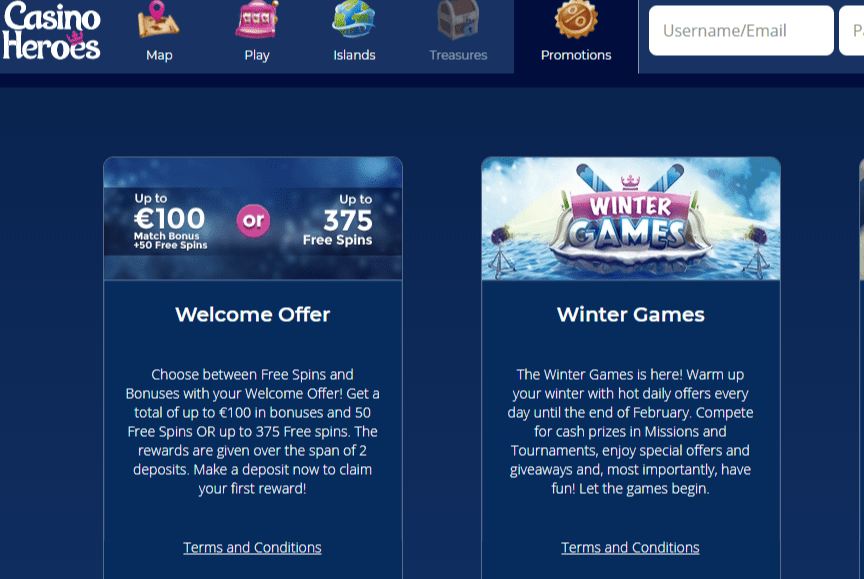casino heroes promotions