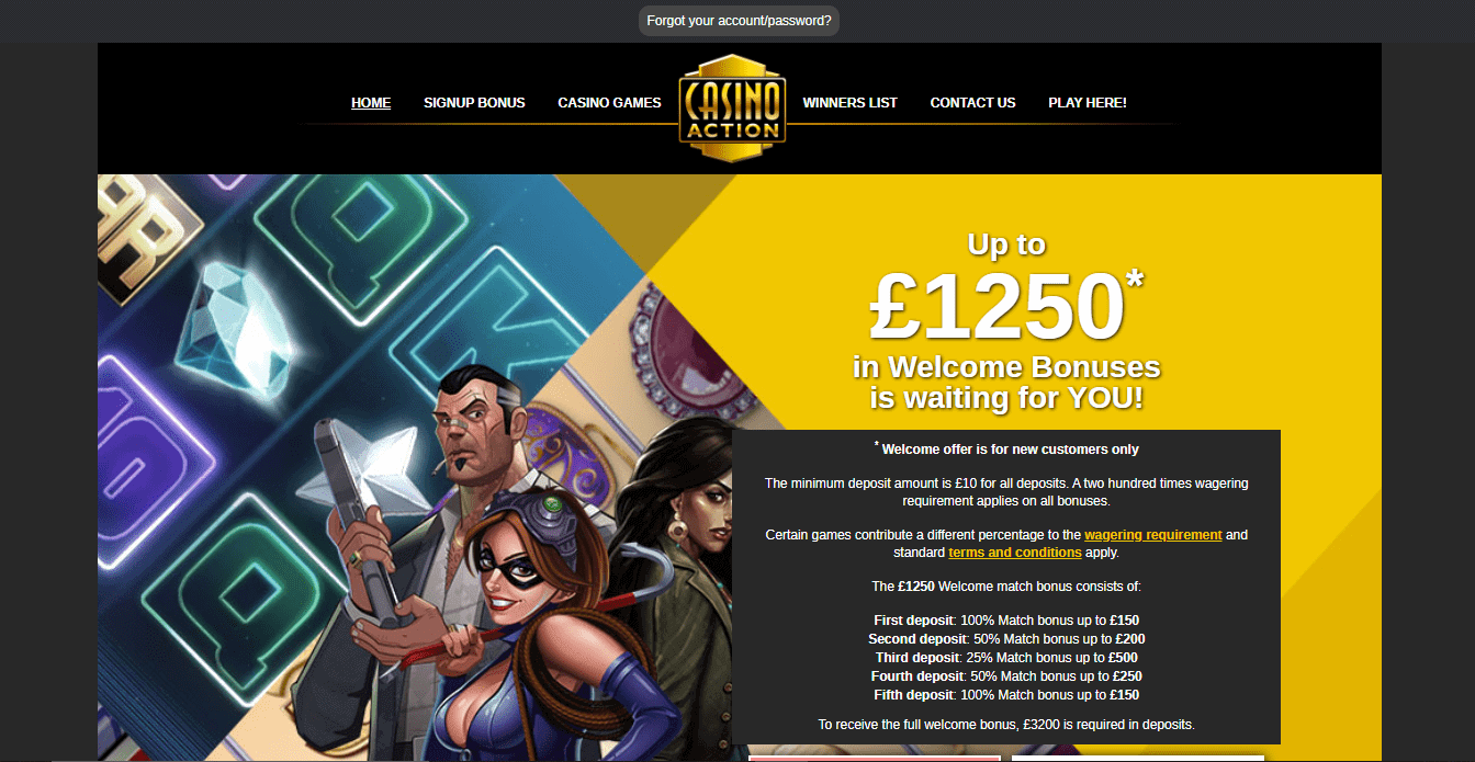 luxury casino home page