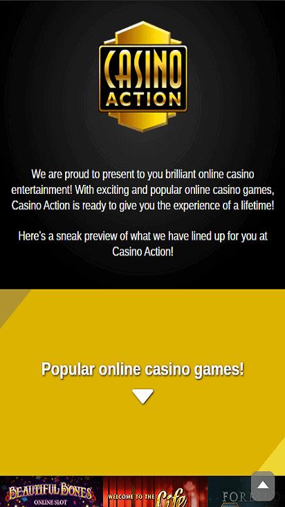casinoaction pomotion mobile1mobile