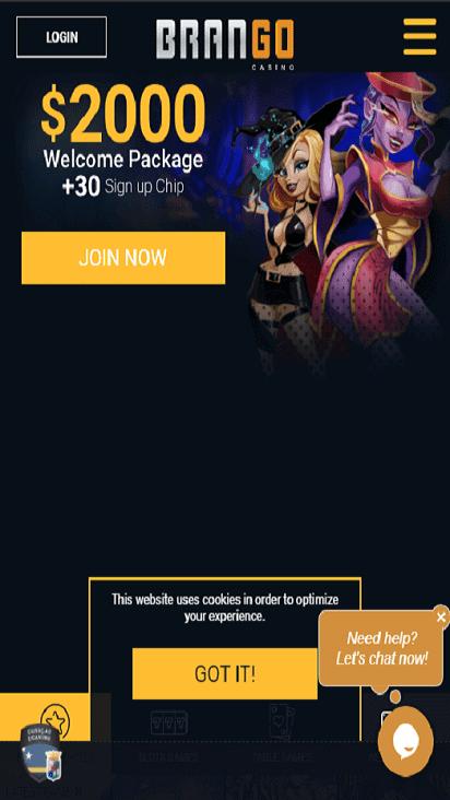 casinobrango home mobile