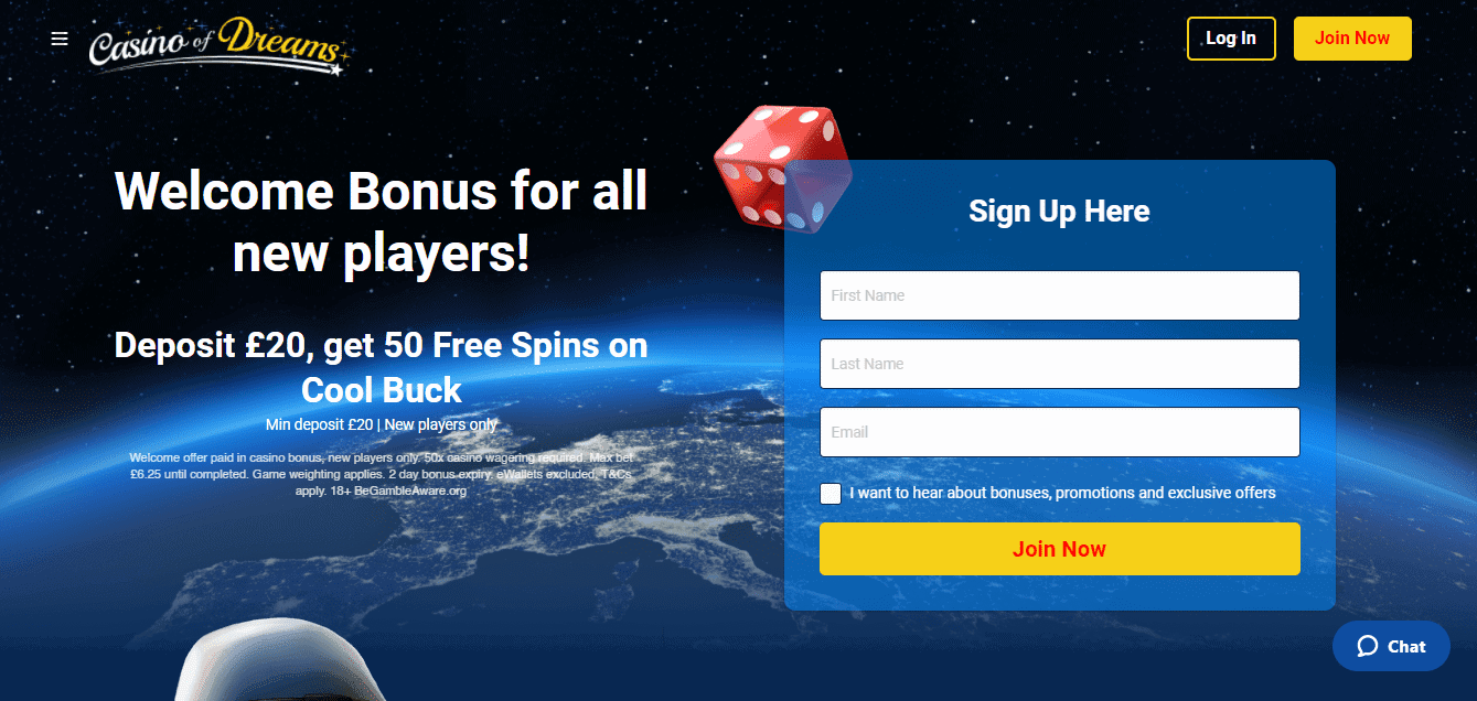 casinoofdreams home page