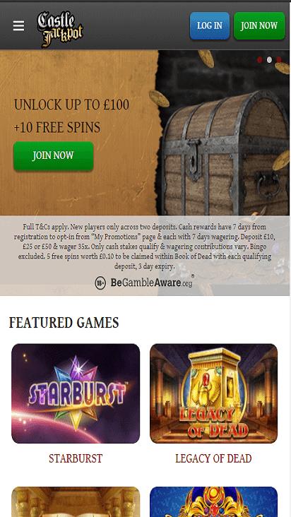castlejackpot home mobile