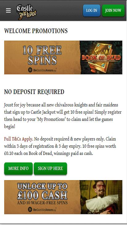 castlejackpot pomo mobile