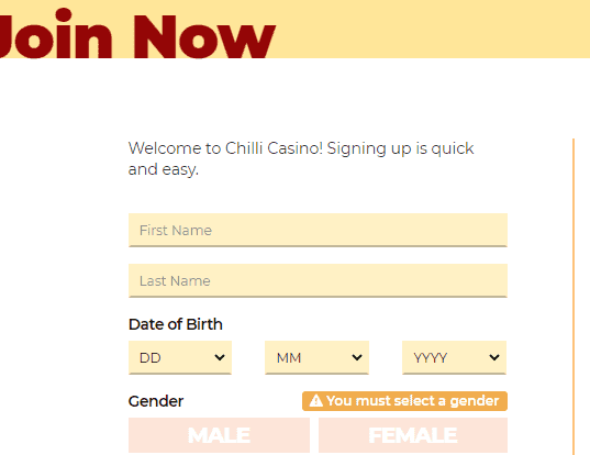 chilli signup
